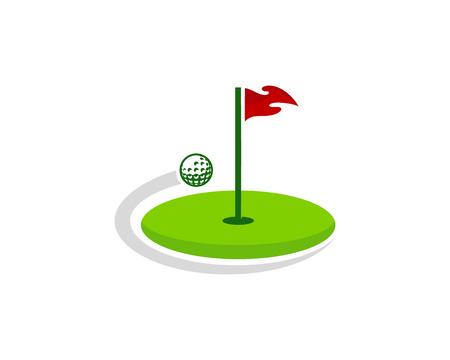 Illustration pour Golf Logo Icon Design - image libre de droit