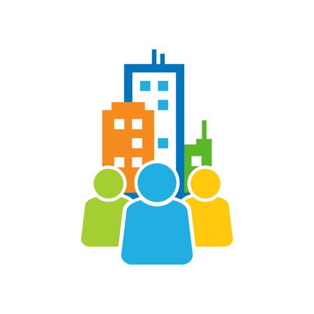 Illustration pour Town Group Logo Icon Design - image libre de droit