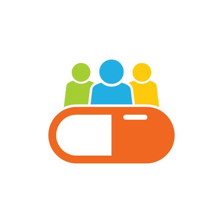 Ilustración de Medicine Group Logo Icon Design - Imagen libre de derechos
