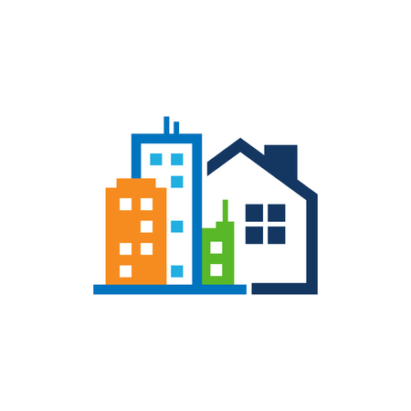 Illustration for Town House Logo Icon Design - Royalty Free Image