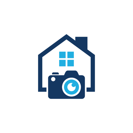 Illustration for Camera House Logo Icon Design - Royalty Free Image