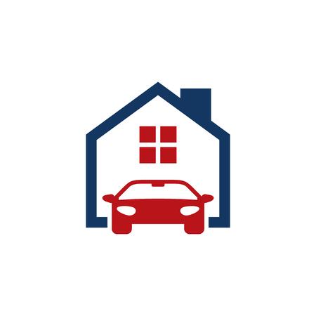 Illustration pour Automotive House Logo Icon Design - image libre de droit