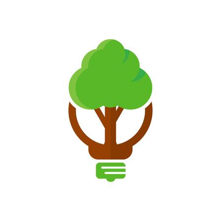Illustration pour Tree Idea Logo Icon Design - image libre de droit