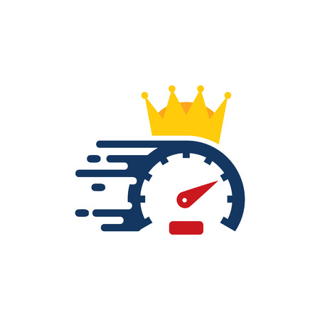 Illustration for Speed King Logo Icon Design - Royalty Free Image