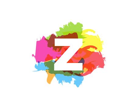 Ilustración de Z Letter Abstract Paint Colorful Logo Icon Design - Imagen libre de derechos