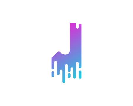 Illustration pour J Letter Paint Wet Logo Icon Design - image libre de droit