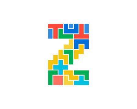 Ilustración de Z Letter Puzzle Logo Icon Design - Imagen libre de derechos
