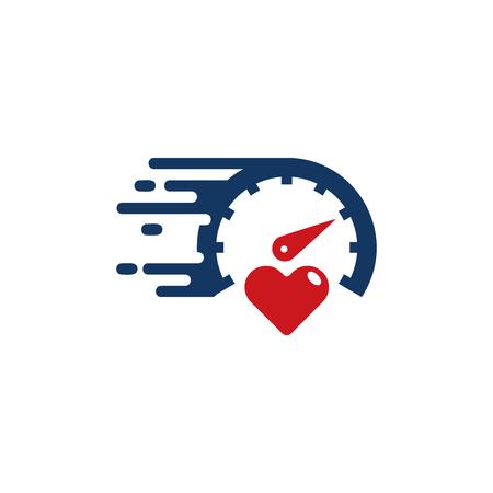 Ilustración de Fast Love Logo Icon Design - Imagen libre de derechos