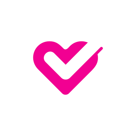 Illustration pour Check Love Logo Icon Design - image libre de droit