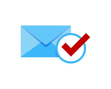 Illustration pour Check Mail Icon Logo Design Element - image libre de droit