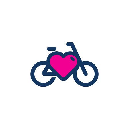 Ilustración de Bike Love Logo Icon Design - Imagen libre de derechos