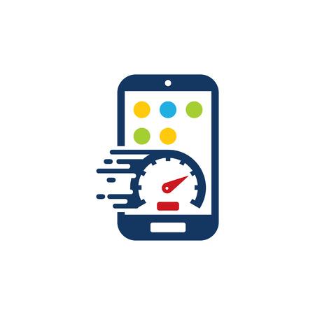 Ilustración de Speed Mobile Phone Logo Icon Design - Imagen libre de derechos