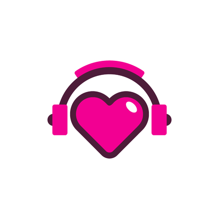 Illustration pour Love Music Logo Icon Design - image libre de droit