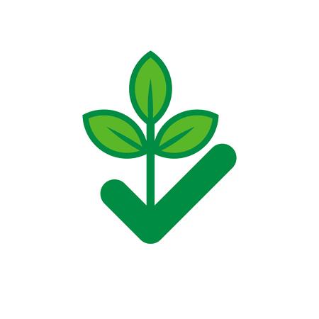 Illustration pour Check Nature Logo Icon Design - image libre de droit