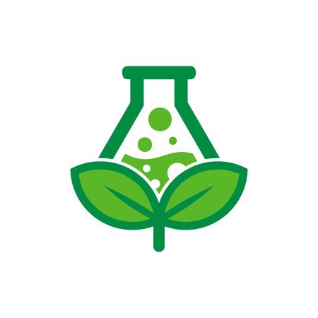 Ilustración de Lab Nature Logo Icon Design - Imagen libre de derechos