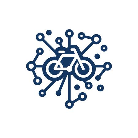 Ilustración de Bike Network Logo Icon Design - Imagen libre de derechos