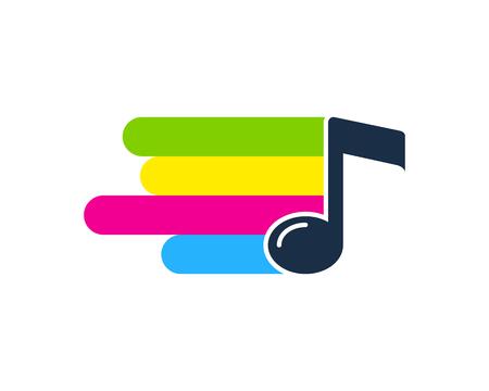 Ilustración de Melody Paint Logo Icon Design - Imagen libre de derechos