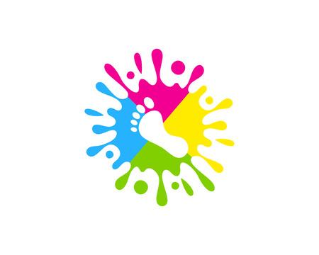Ilustración de Foot Paint Logo Icon Design - Imagen libre de derechos