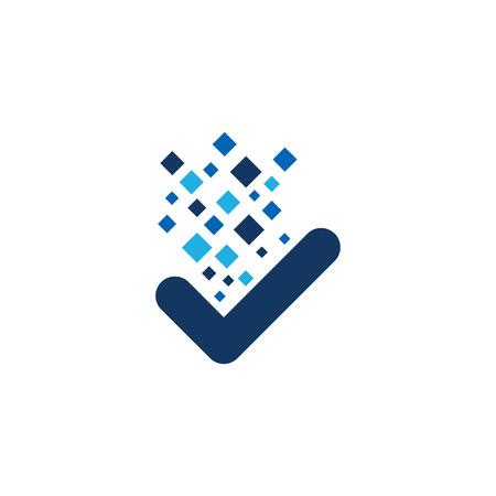 Illustration pour Check Pixel Logo Icon Design - image libre de droit