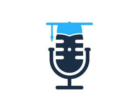 Ilustración de School Podcast Logo Icon Design - Imagen libre de derechos