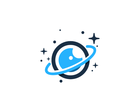 Illustration for Vision Planet Logo Icon Design - Royalty Free Image