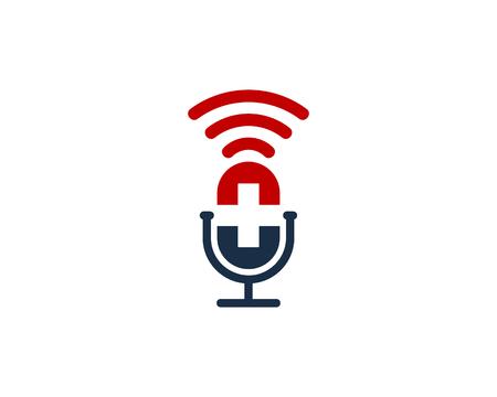 Ilustración de Medical Podcast Logo Icon Design - Imagen libre de derechos