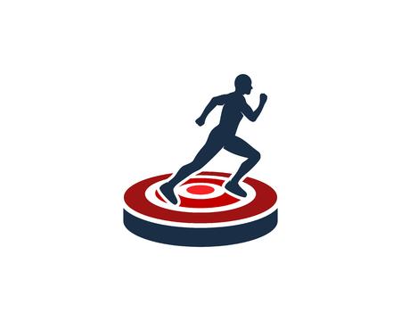 Ilustración de Run Icon Design - Imagen libre de derechos