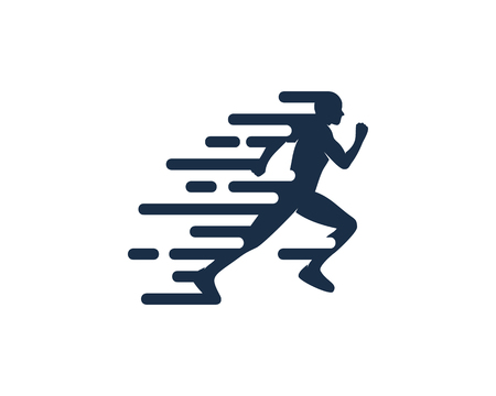 Ilustración de Movement Run Logo Icon Design - Imagen libre de derechos