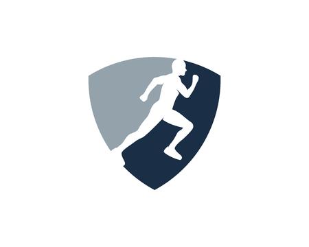 Ilustración de Guard Run Icon Design - Imagen libre de derechos