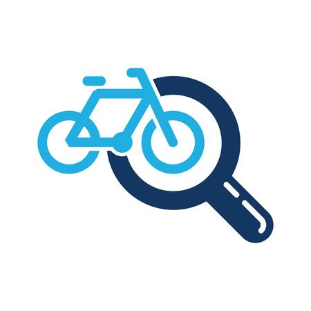 Ilustración de Bike Search Logo Icon Design - Imagen libre de derechos