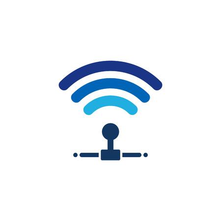 Illustration pour Wifi Server Logo Icon Design - image libre de droit