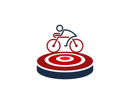 Ilustración de Bike Target Logo Icon Design - Imagen libre de derechos