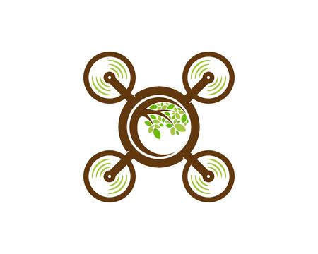 Illustration pour Fly Tree Logo Icon Design - image libre de droit