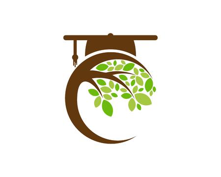 Photo pour School Tree Logo Icon Design - image libre de droit