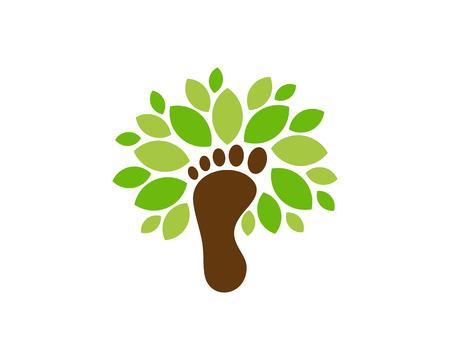 Ilustración de Foot Tree Logo Icon Design - Imagen libre de derechos