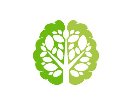 Ilustración de Mind Tree Logo Icon Design - Imagen libre de derechos