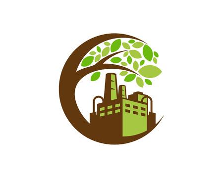 Ilustración de Industrial Tree Logo Icon Design - Imagen libre de derechos