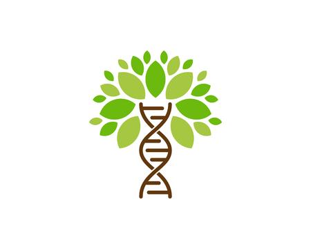 Illustrazione per Dna Tree Logo Icon Design - Immagini Royalty Free