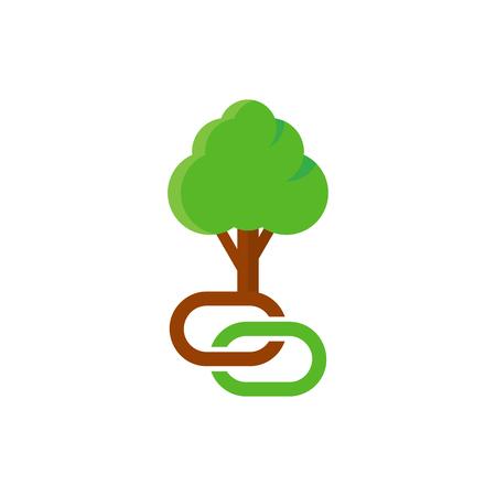 Ilustración de Connect Tree Logo Icon Design - Imagen libre de derechos