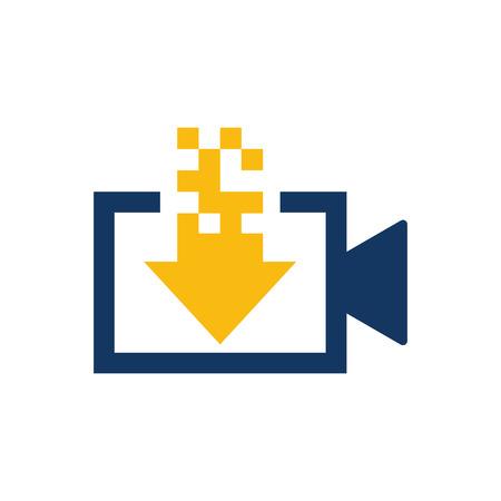 Illustration pour Download Video Logo Icon Design - image libre de droit