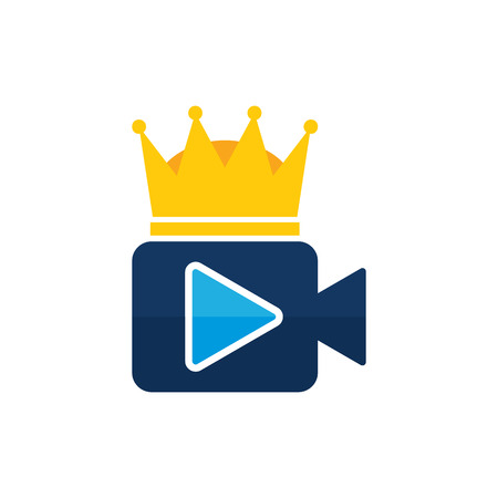 Illustration for King Video Icon Design - Royalty Free Image