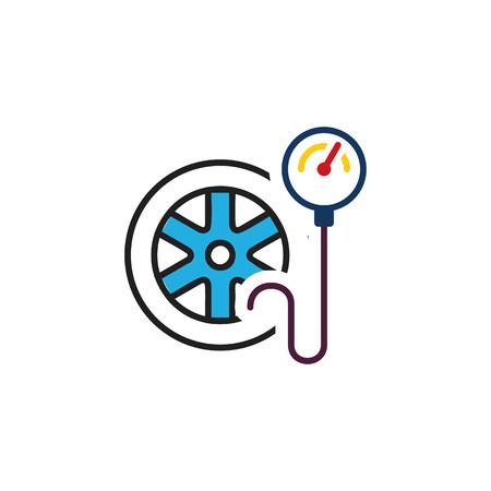 Ilustración de Tire Pressure Logo Icon Design - Imagen libre de derechos
