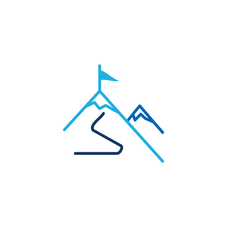 Illustration pour Mountain Business  Icon Design - image libre de droit