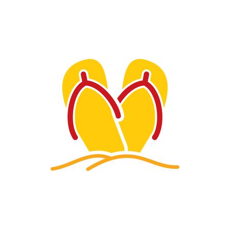 Ilustración de Slipper Summer Icon Design - Imagen libre de derechos