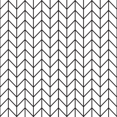 Illustration for Black and white zigzag vector seamless pattern. - Royalty Free Image