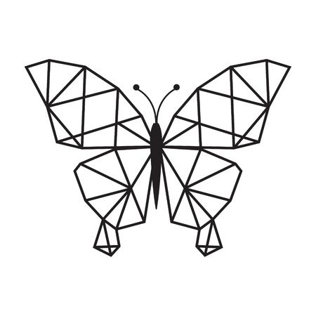 Illustration pour LOW POLY LOGO ICON SYMBOL TRIANGLE BUTTERFLY GEOMETRIC POLYGONAL - image libre de droit