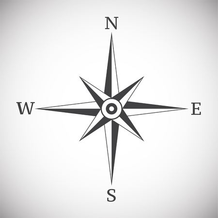 Illustration pour Wind rose compass vintage on white background illustration - image libre de droit