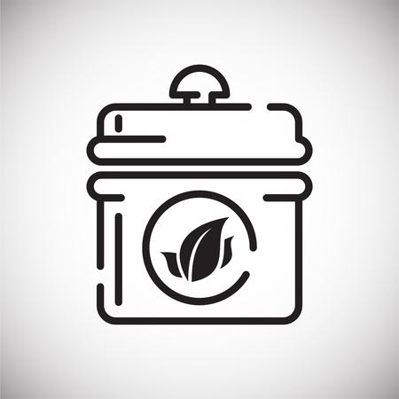Ilustración de Tea outline icon on white background for graphic and web design, Modern simple vector sign. Internet concept. Trendy symbol for website design web button or mobile app - Imagen libre de derechos