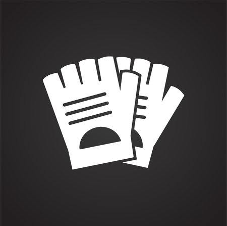 Bicycle gloves icon on background for graphic and web design. Simple vector sign. Internet concept symbol for website button or mobile app