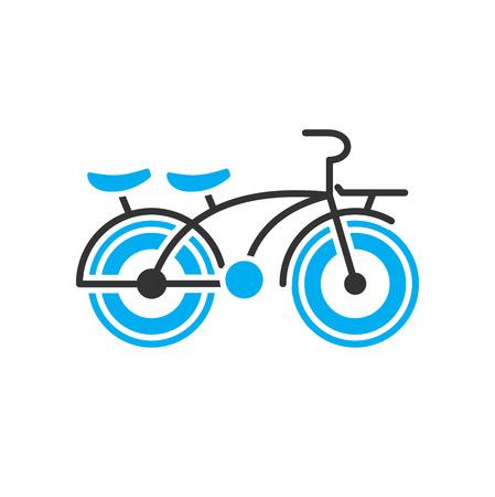 Bicycle icon on background for graphic and web design. Simple vector sign. Internet concept symbol for website button or mobile app.